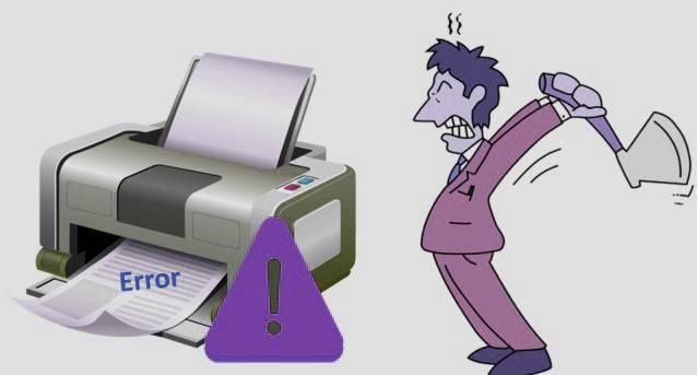 printer is showing offline