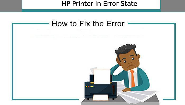 printer in error state hp